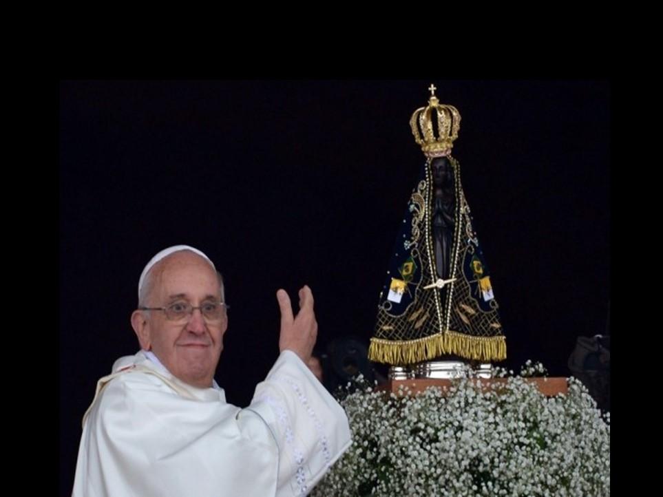 """""""Onde Nossa Senhora é de casa, o diabo não entra"""", afirmou o Papa Francisco"""