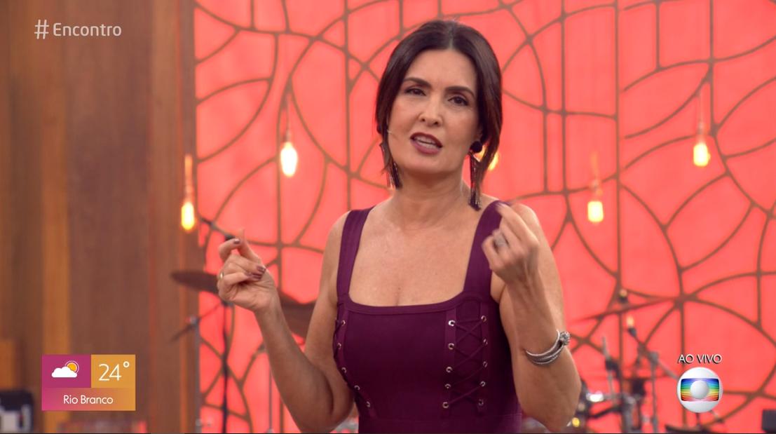 Fátima Bernardes é pega de surpresa por parceiro
